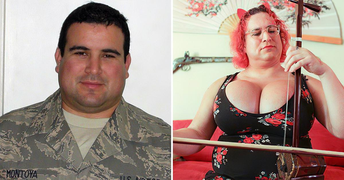 Фото Офицер ВВС США сделал грудь пятого размера и готовится к смене пола