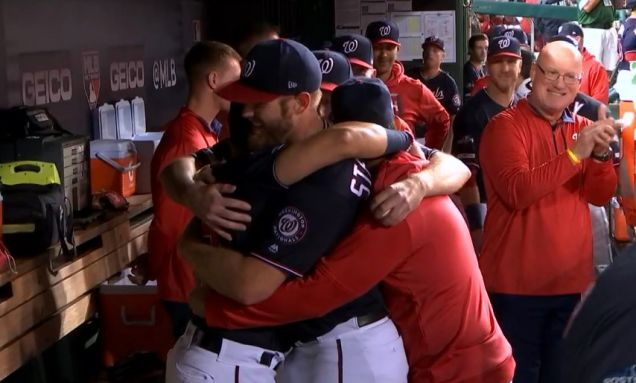Photo of Stephen Strasburg's Teammates Must Keep Hugging Him Until His Icy Heart Melts