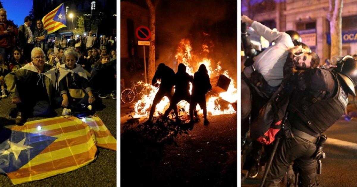 Беспорядки в Барселоне: 200 пострадавших и отмена рейсов. Что происходит?