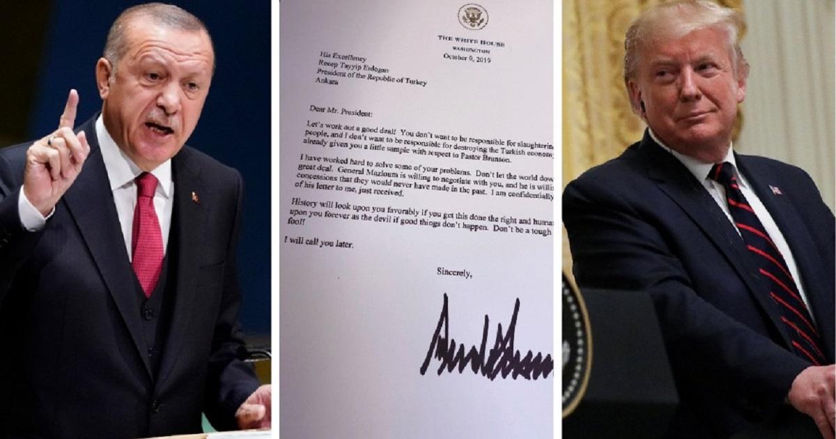Эрдоган выкинул в мусор резкое письмо от Трампа. В Кремле удивлены