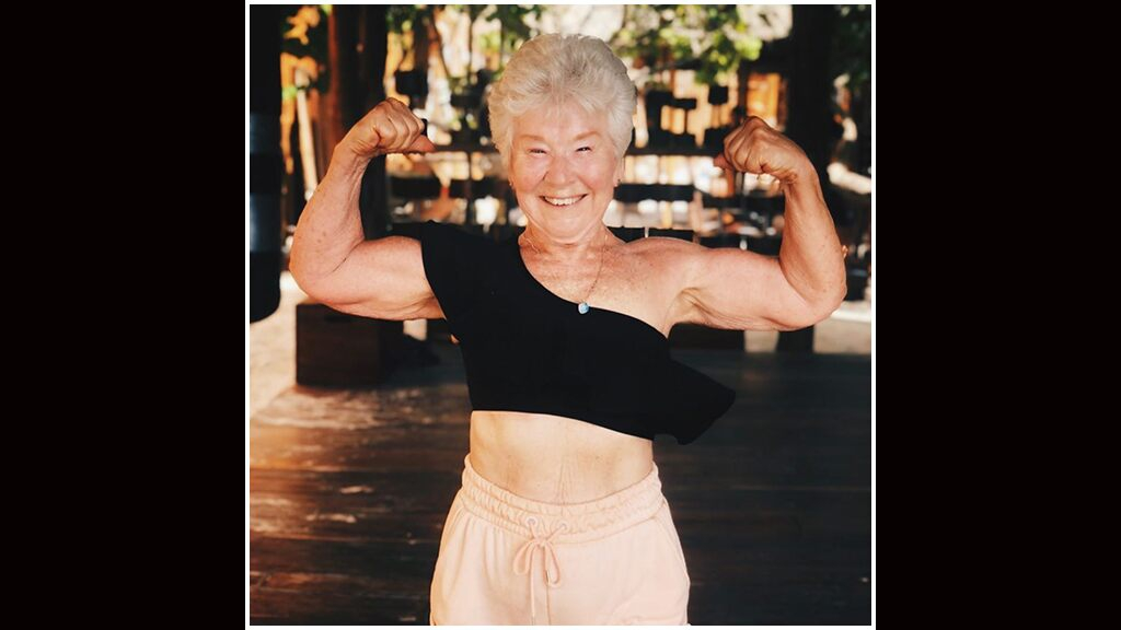 Photo of Grandma, 73, shows off 55-pound weight loss, claims 'younger men and women' constantly compliment her