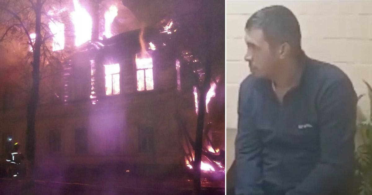 Фото Совершивший поджог в Ростове мужчина сделал это из-за обиды