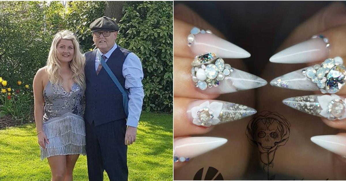 Девушка сделала свадебный маникюр из праха собственного отца