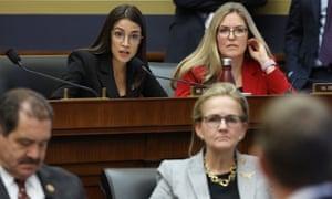 Photo of Ocasio-Cortez stumps Zuckerberg with questions on far right and Cambridge Analytica