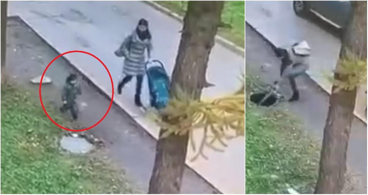 Маленький ребенок провалился в люк на глазах у матери в Татарстане