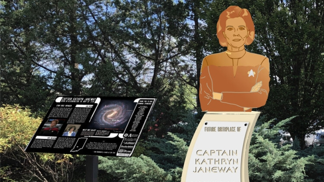Photo of Captain Janeway's Hometown Could Get a Star Trek Memorial, With Your Help
