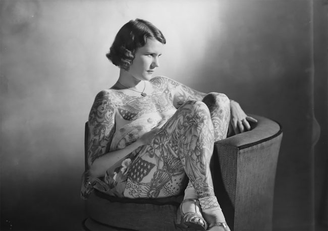 Photo of Amazing Vintage Photos Of Betty Broadbent, The 'Tattooed Venus' From The Late 1930s