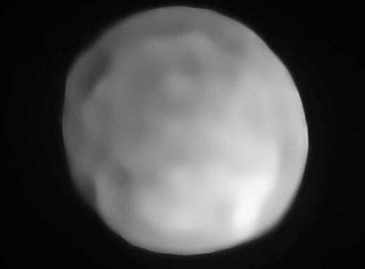 Photo of ESO says that the asteroid Hygiea could be a dwarf planet