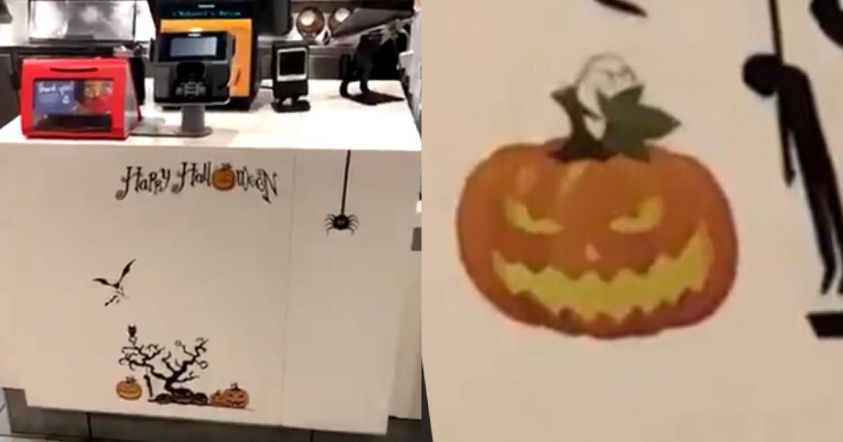 Фото Макдональдс заставили извиниться за неприемлемую декорацию на Хэллоуин