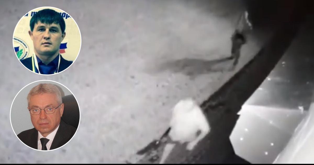 Налет на дом экс-мэра Киселевска попал на камеру