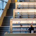 New Library Is a $41.5 Million Masterpiece. But About Those Stairs.