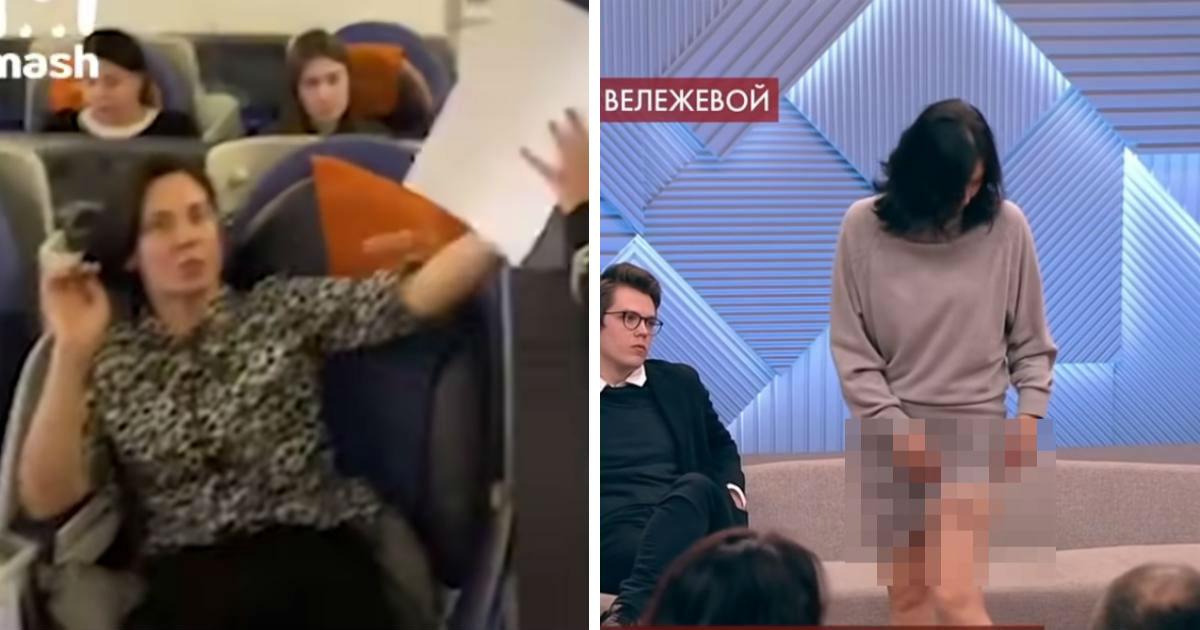 Вележева показала синяки после задержания в самолете