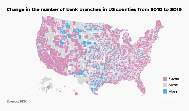 Photo of US bank branches have declined rapidly in recent years