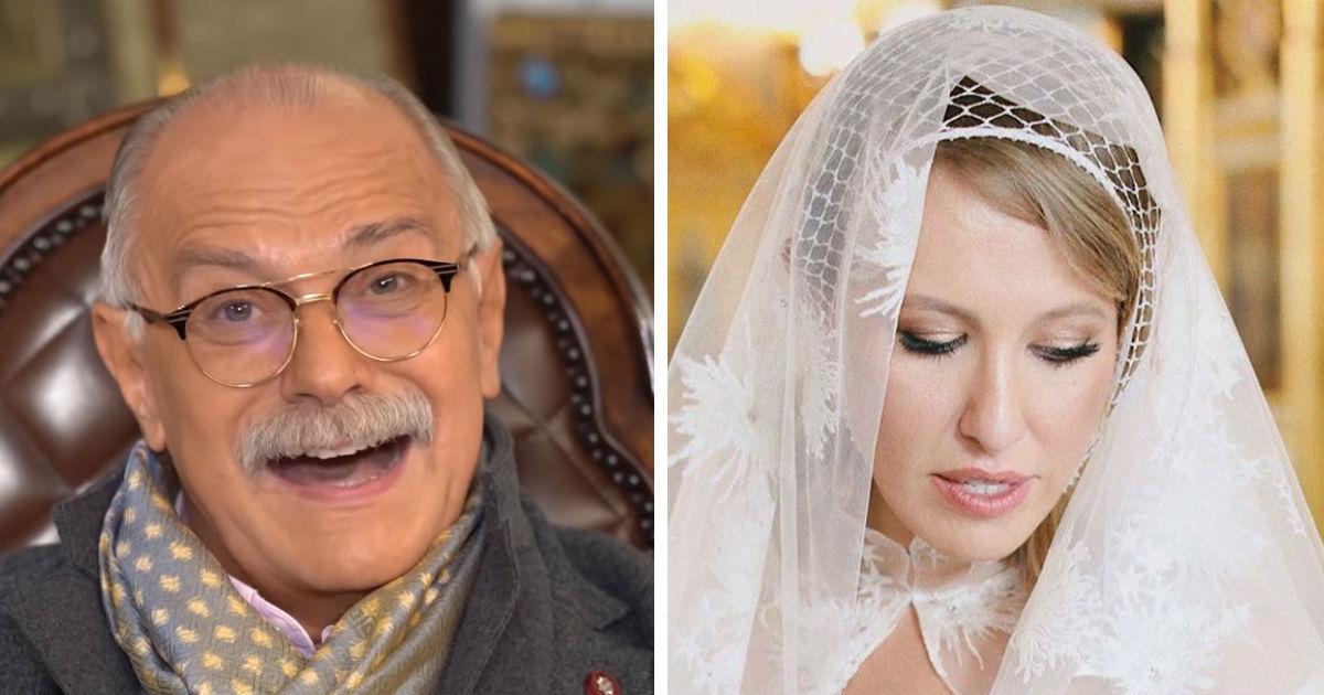"""Фото Собчак ответила """"бесогону"""" Михалкову на критику ее свадьбы с катафалком"""