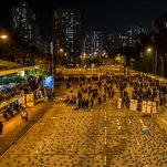 Hong Kong Students Ready Bows and Arrows for Battles with Police