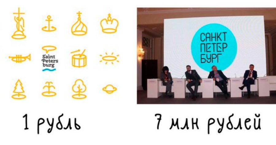 "Фото ""Минута фотошопа за семь лямов"". В сети высмеяли логотип Петербурга за 7 млн"