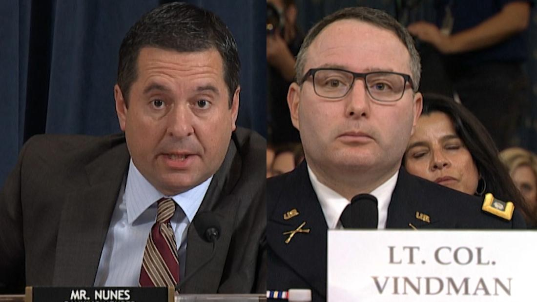 Photo of Watch Vindman correct Nunes during impeachment hearing