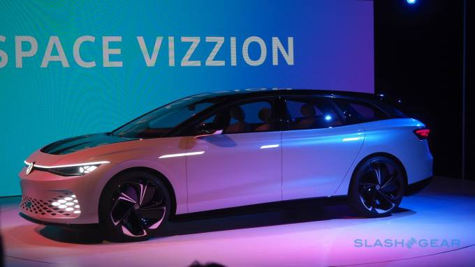 Photo of The VW ID. SPACE VIZZION is a weird EV sports wagon with a secret message