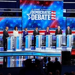 With Impeachment as Backdrop, Democrats Direct Fire at Trump in Debate