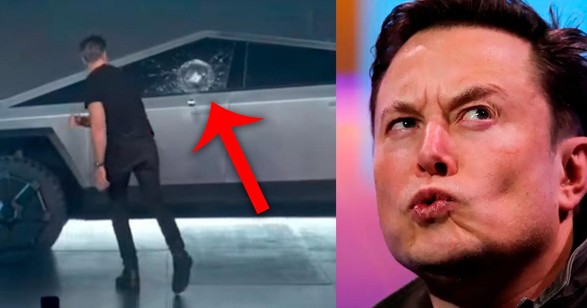 Фото У пуленепробиваемого автомобиля Tesla на презентации разбилось стекло
