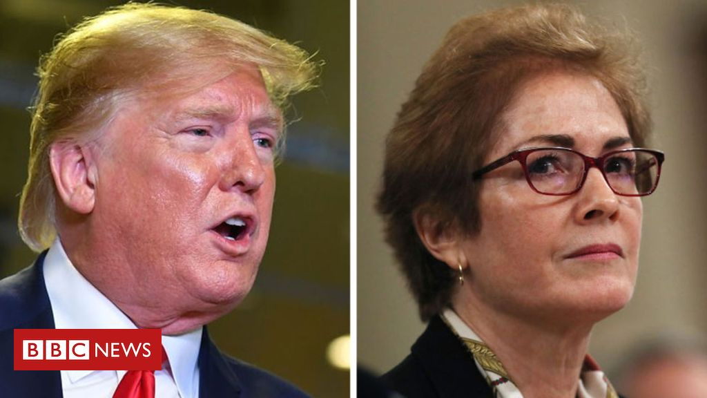 Photo of Trump says envoy Marie Yovanovitch refused to hang his photo