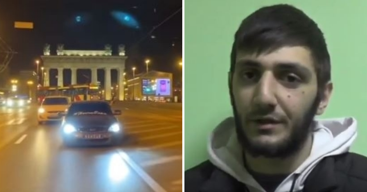 Чеченец извинился на камеру за ночную пальбу в Петербурге