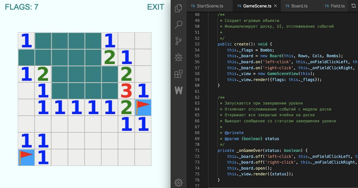 Фото Как написать сапера на Phaser и выполнить тестовое задание HTML5 разработчика