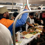 Serve a Full Thanksgiving Meal on an L Train? Just Watch Them
