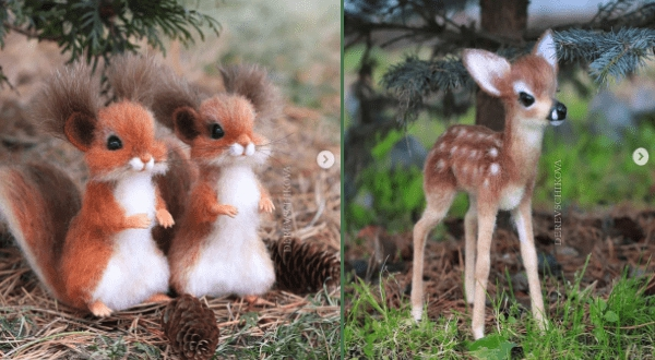 Photo of Russian Artist Creates Adorable Wool Animals That Look Like They Came Out Of a Disney Movie