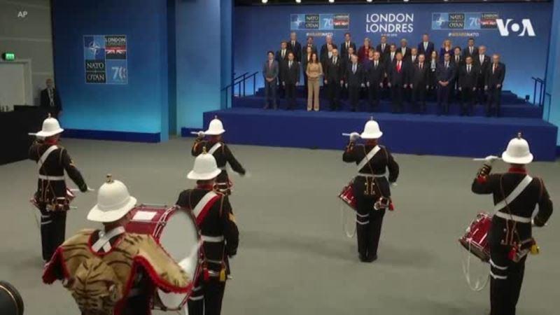 Фото Лидеры НАТО собрались в отеле гольф-курорта под Уотфордом на заключительную сессию саммита. Главная тема обсуждения - будущее альянса