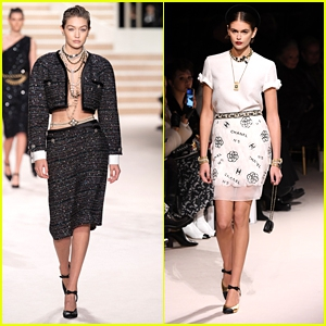 Photo of Gigi Hadid & Kaia Gerber Strut Down The Runway For Chanel Metiers d'art Fashion Show