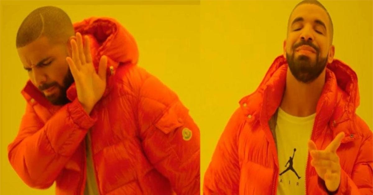 Мем с Дрейком: шаблон и смысл мема с парнем в оранжевой куртке