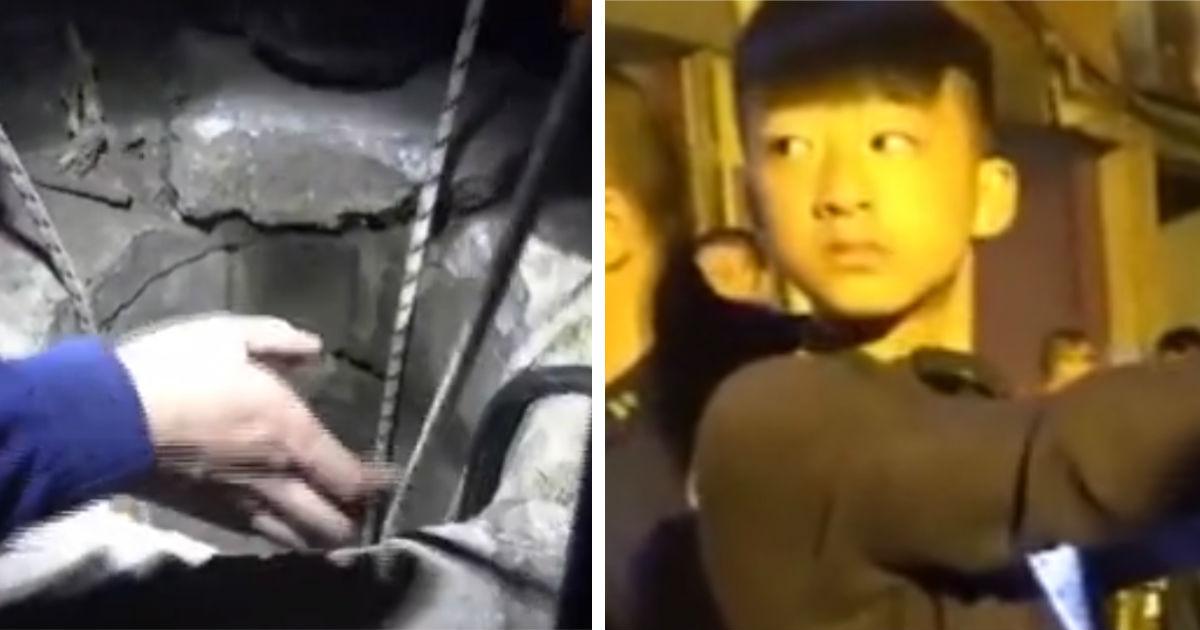 Китайский подросток спас девочку, упавшую в узкий 30-метровый колодец