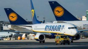 Ryanair прекращает полеты из Киева по двум направлениям