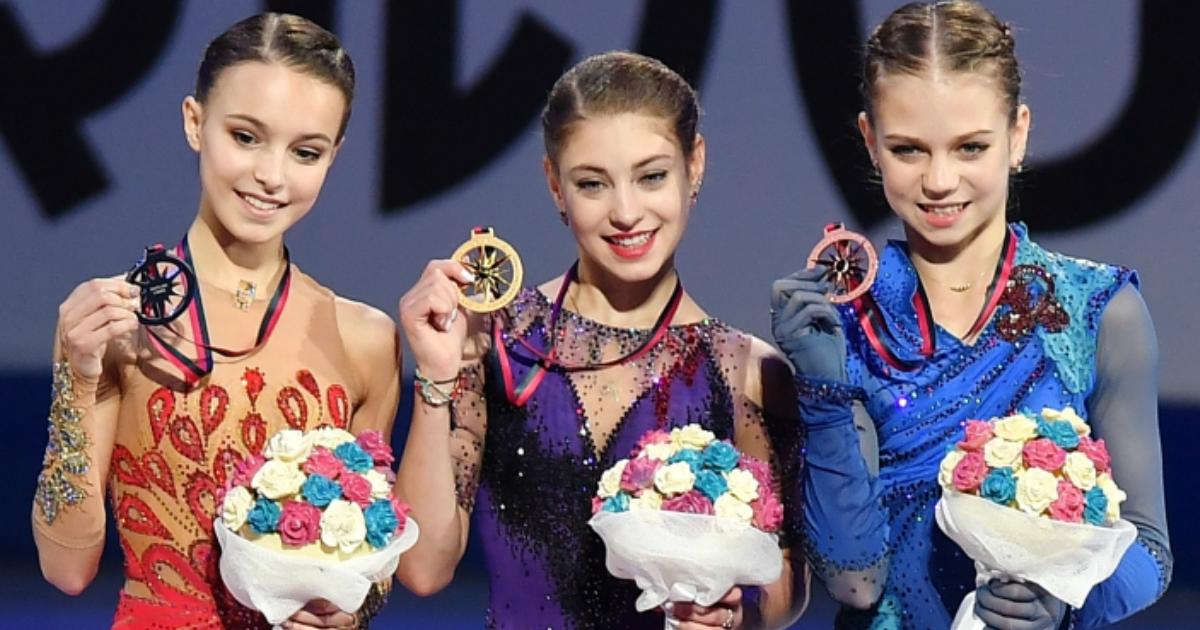Фото Триумф. Российские фигуристки заняли весь пьедестал в финале Гран-при