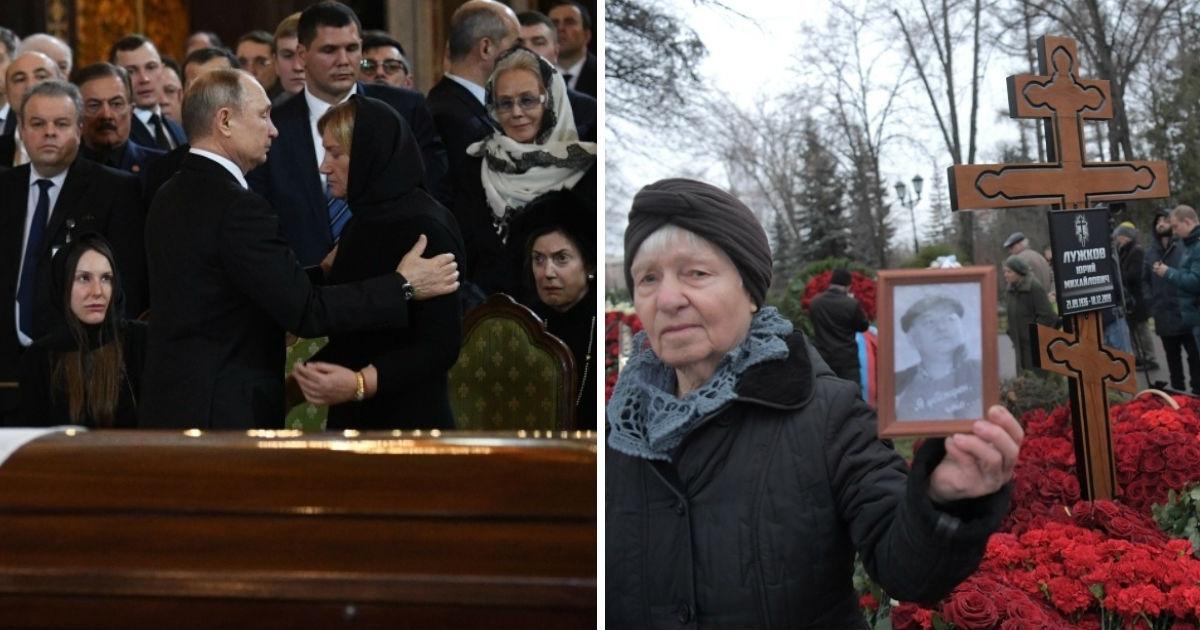 Близкие Лужкова объяснили, почему гроб во время прощания был закрыт