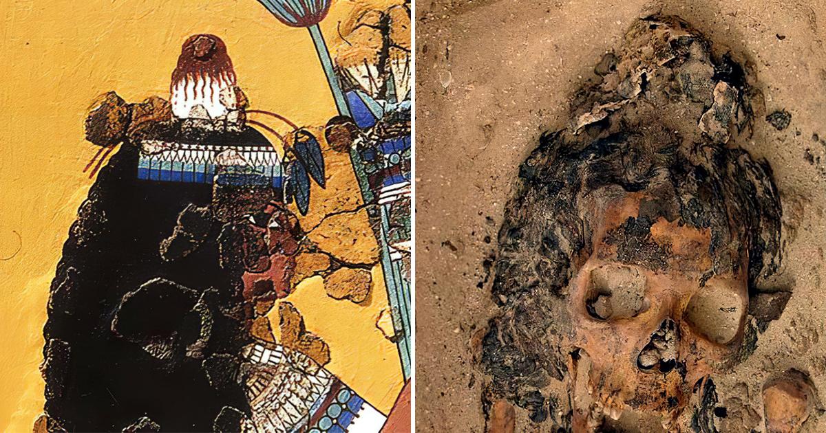 Фото Загадочные могилы. В Египте обнаружено захоронение людей с конусами на головах
