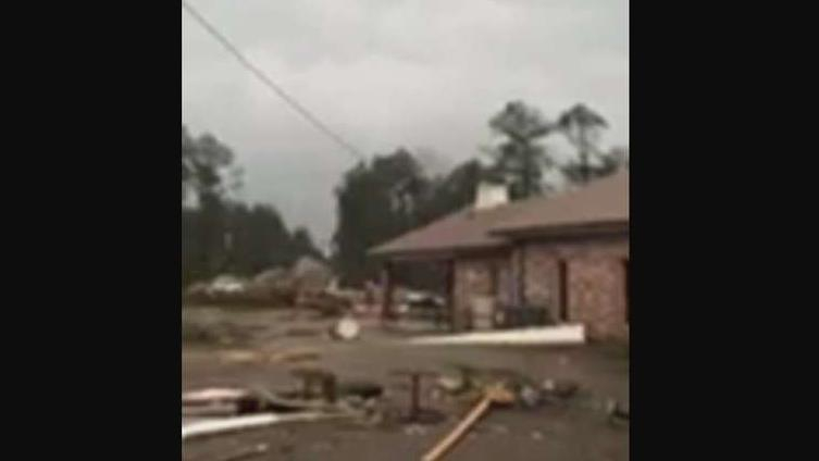 Photo of Tornadoes reported in Louisiana, damaging homes, church, at least 1 dead