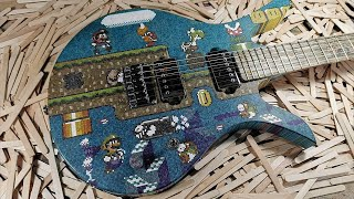 Some guy made a Super Mario guitar out of a popsicle sticks