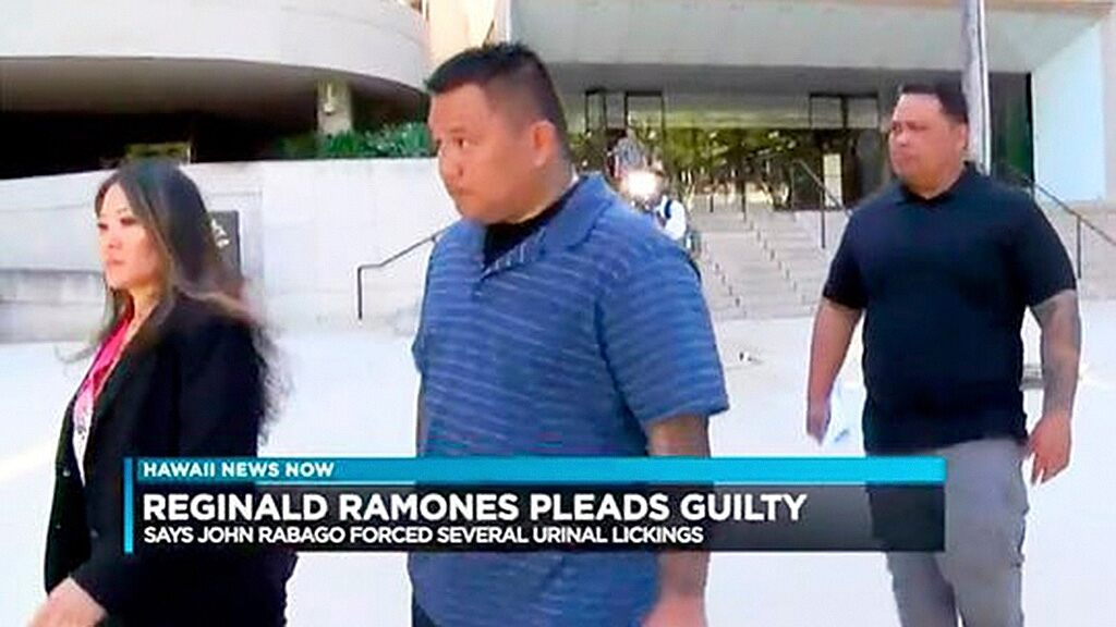 Photo of Hawaii police officer pleads guilty to forcing man to lick public urinal to avoid arrest