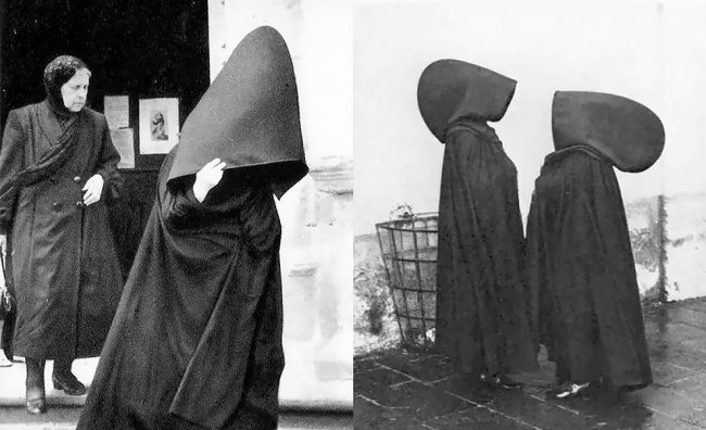 Photo of Amazing Vintage Photos Of Portuguese Women From The Azores Islands In Their Tradition Hooded Capes