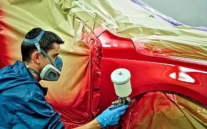 Локальная покраска деталей автомобиля