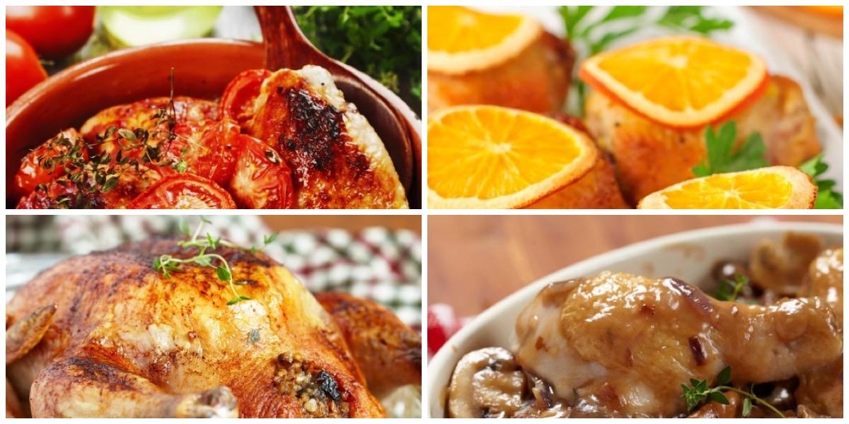 Подборка блюд из курицы к новогоднему столу