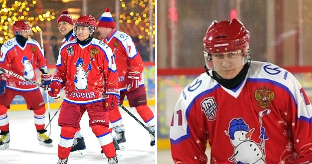 «Плохо играешь!» Как Путин выиграл у друзей в хоккей на Красной площади