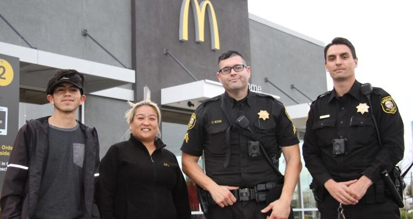 Photo of McDonald's employees aid drive-thru customer who mouths 'Help me': police