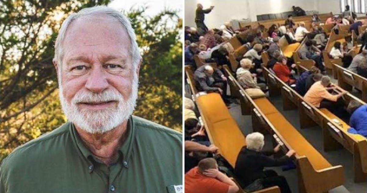 Фото 71-летний американец спас прихожан в церкви