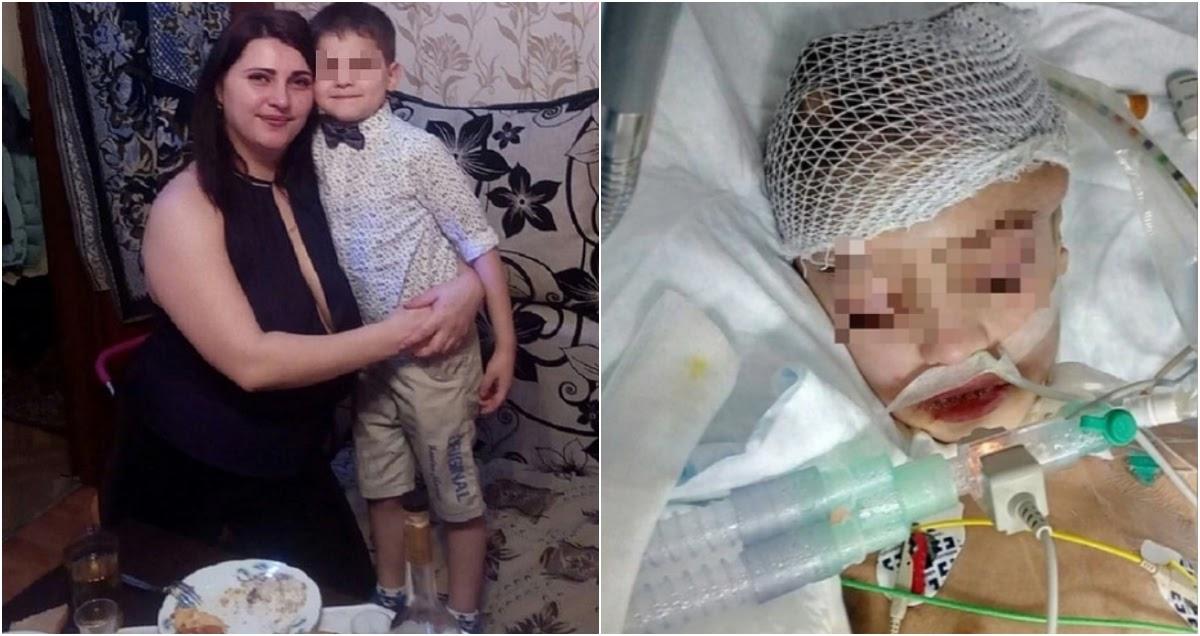Мать пытается спасти своего 7-летнего сына Егора в Нижнем Тагиле