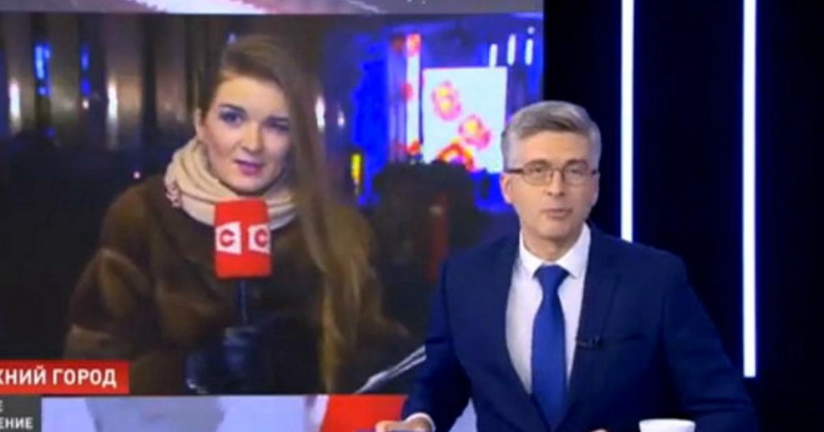 Журналистка упала в обморок после прямого эфира