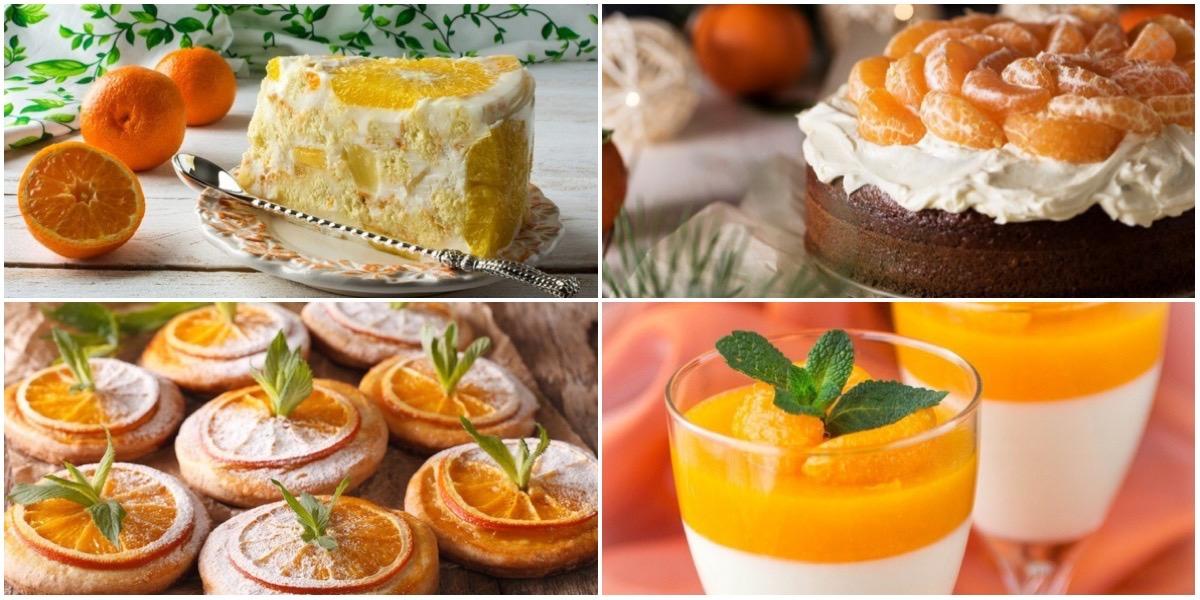 Очень вкусная подборка мандариновых десертов