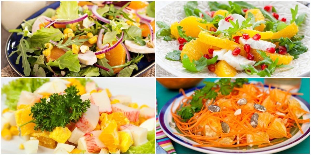 Фото Подборка самых вкусных салатов с апельсинами